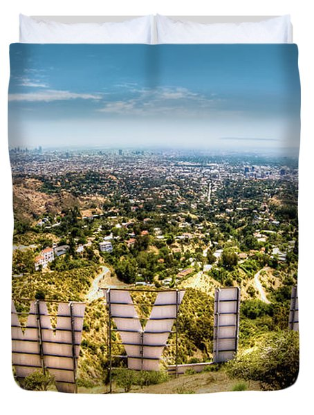 Welcome To Hollywood Duvet Cover