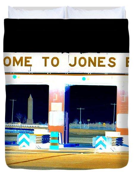 Welcome To Jones Beach Duvet Cover by Ed Weidman