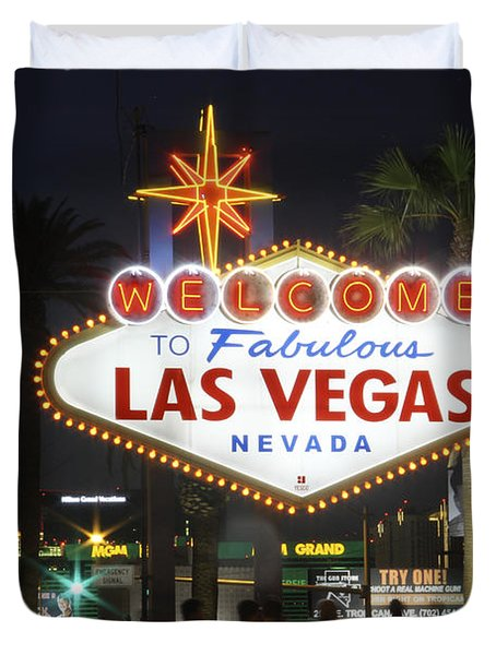 Welcome To Las Vegas Duvet Cover by Mike McGlothlen