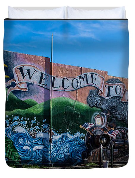 Welcome To Rogue River Oregon Duvet Cover by Mick Anderson