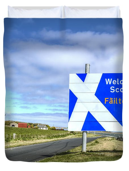 Welcome To Scotland Duvet Cover