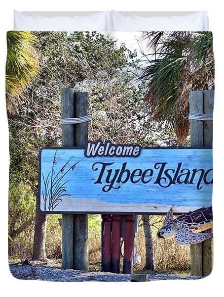 Welcome To Tybee Duvet Cover