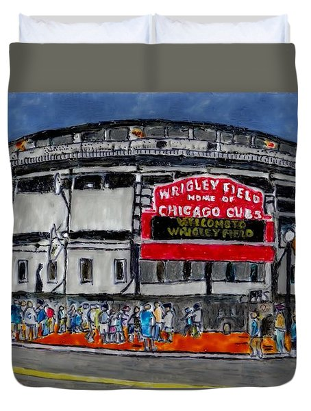 Welcome To Wrigley Field Duvet Cover