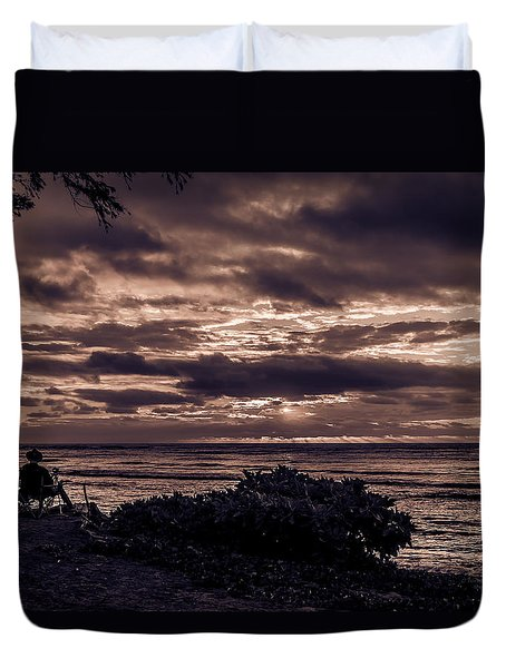 Welcoming The Sun Duvet Cover