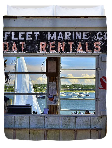 Wellfleet Harbor Thru The Window Duvet Cover