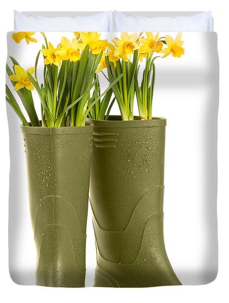 Wellington Boots Duvet Cover by Amanda Elwell