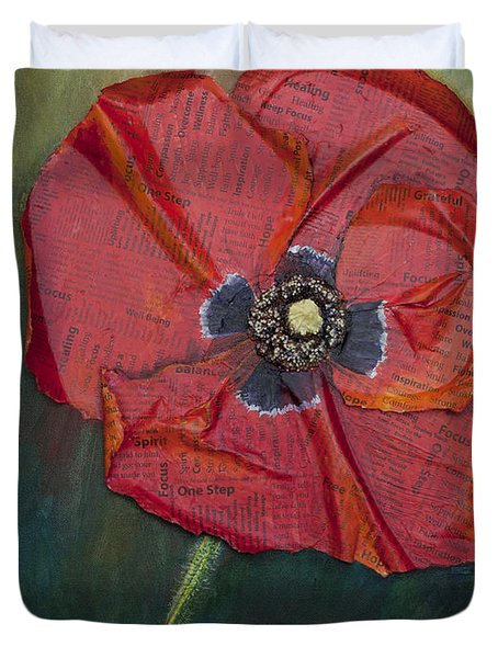 Wellness Poppy Duvet Cover