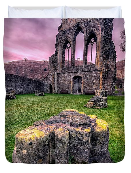 Welsh Abbey  Duvet Cover by Adrian Evans