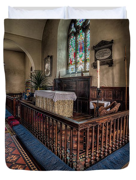 Welsh Chapel Duvet Cover by Adrian Evans