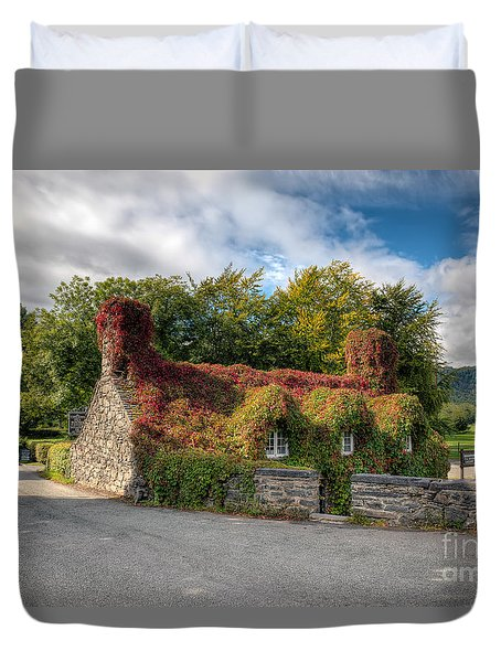 Welsh Cottage Duvet Cover by Adrian Evans