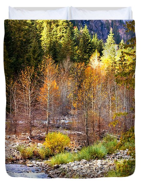Wenatchee River - Leavenworth - Washington Duvet Cover