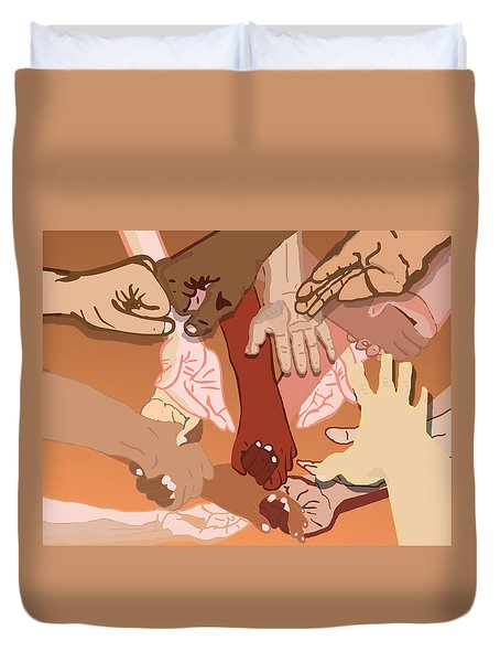 We're All In This Together Duvet Cover by Pharris Art