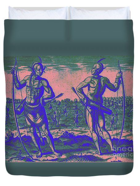 Weroans Of Virginia 1590 Duvet Cover