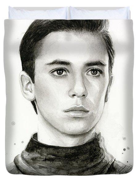 Wesley Crusher Star Trek Fan Art Duvet Cover