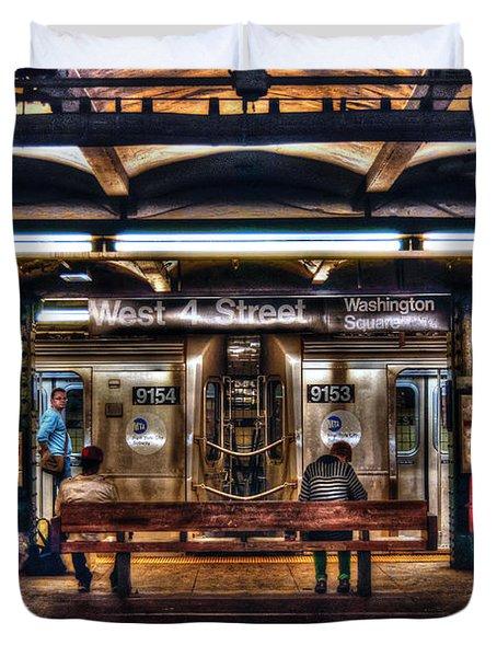 West 4th Street Subway Duvet Cover