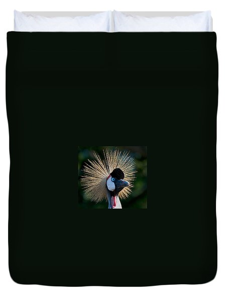 West African Crowned Crane Duvet Cover