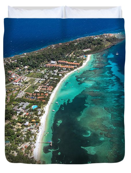 West End Roatan Honduras Duvet Cover