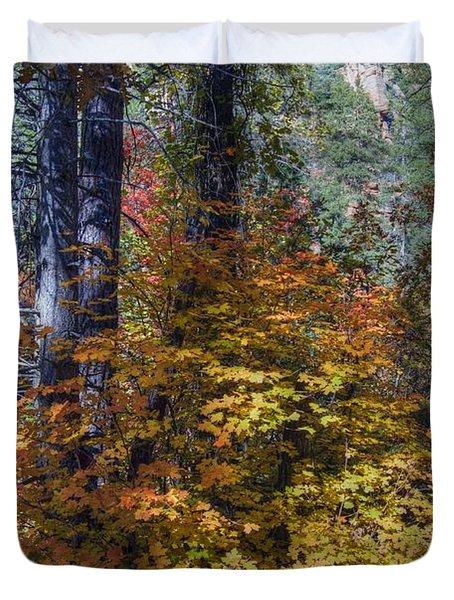 West Fork Fall Color Duvet Cover