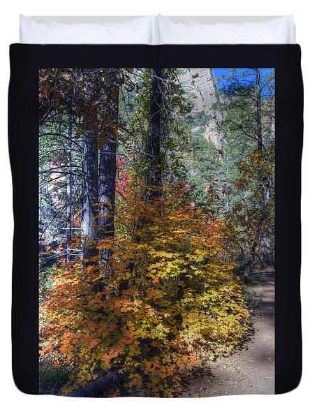 West Fork Fall Color Duvet Cover