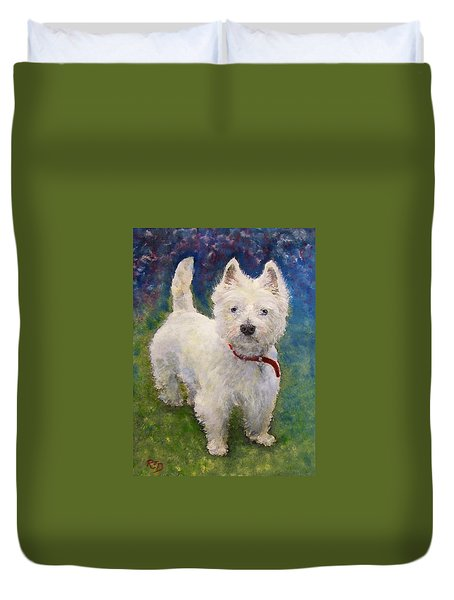 West Highland Terrier Holly Duvet Cover