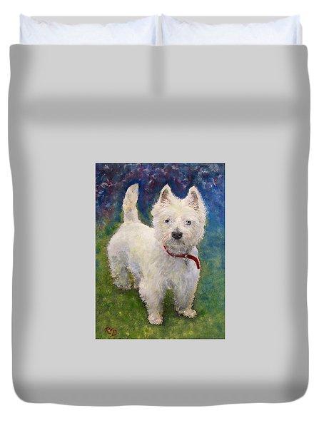 West Highland Terrier Holly Duvet Cover