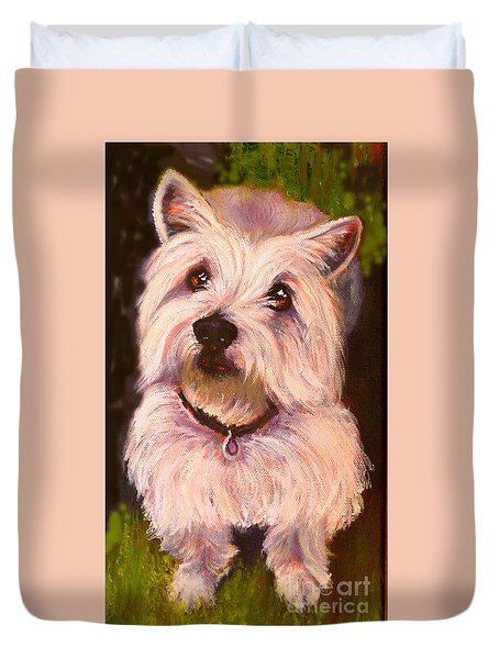 West Highland Terrier Reporting For Duty Duvet Cover