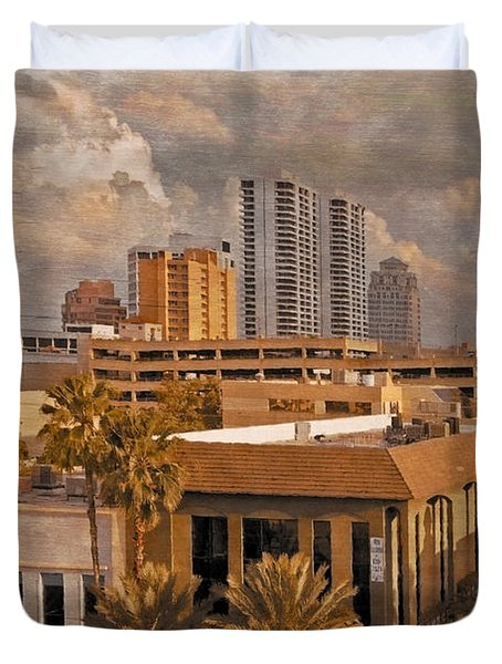 West Palm Beach Florida Duvet Cover by Debra and Dave Vanderlaan