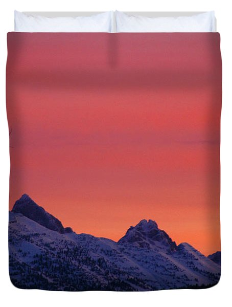 West Side Teton Sunrise Duvet Cover by Raymond Salani III
