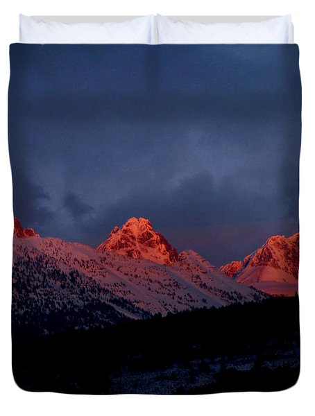 West Side Teton Sunset Duvet Cover