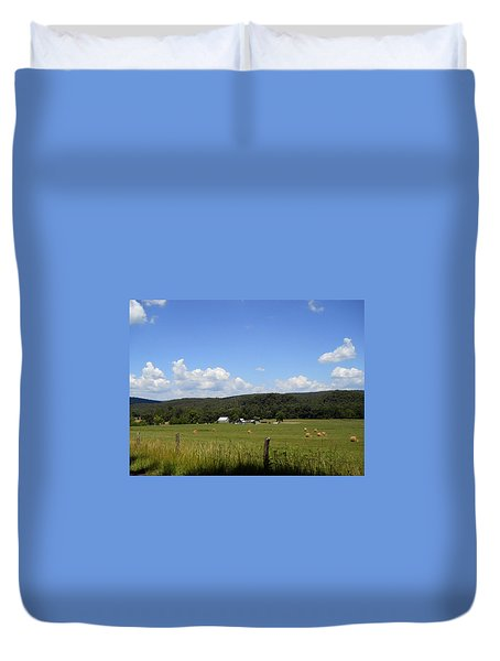 Duvet Cover featuring the photograph West Virginia Farm by Dorothy Maier