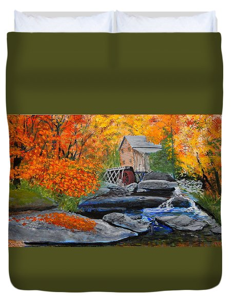 West Virginia Grist Mill Duvet Cover by William Tremble