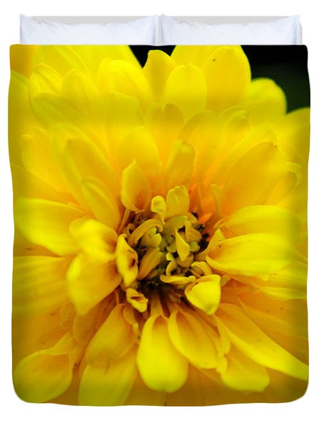 West Virginia Marigold Duvet Cover