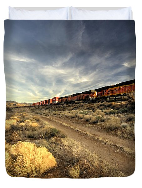 Westbound Freight  Duvet Cover