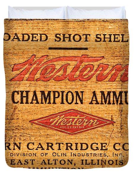 Western Ammunition Box Duvet Cover