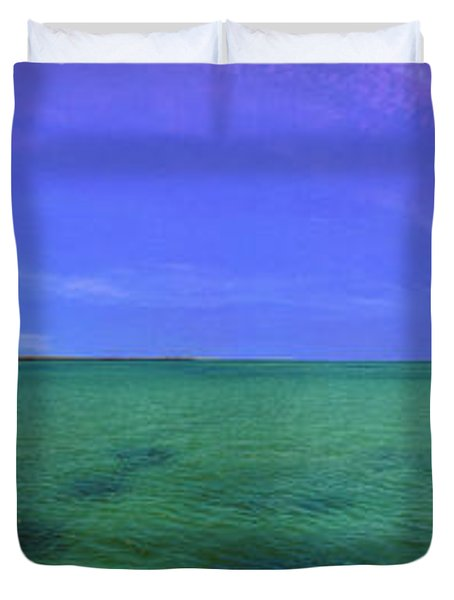 Duvet Cover featuring the photograph Western Australia Busselton Jetty by David Zanzinger