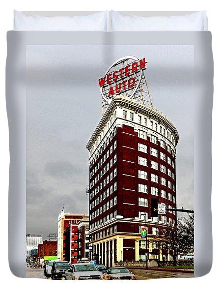 Western Auto Building Duvet Cover