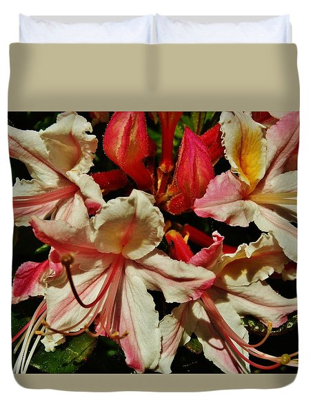 Duvet Cover featuring the photograph Western Azalea by VLee Watson