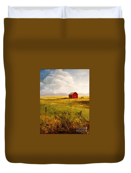Western Barn Duvet Cover by Lee Piper