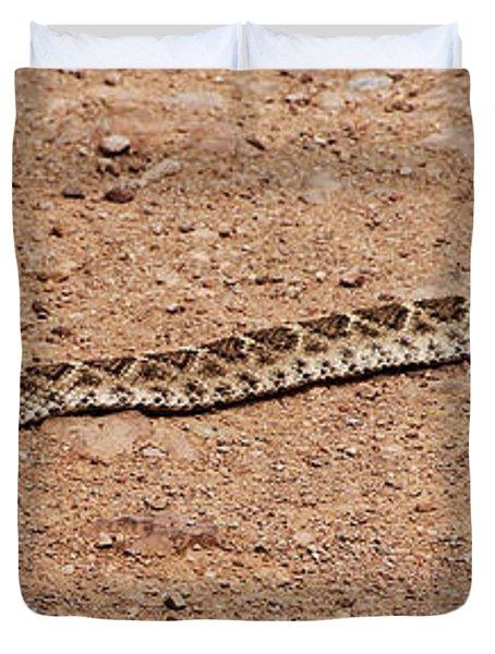 Western Diamondback Rattle Snake Duvet Cover