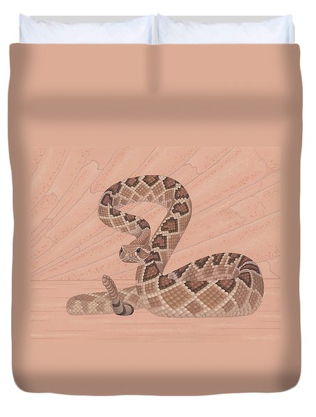Western Diamondback Rattlesnake Duvet Cover by Nathan Marcy