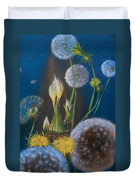 Western Goat's Beard Weed Duvet Cover by Sharon Duguay