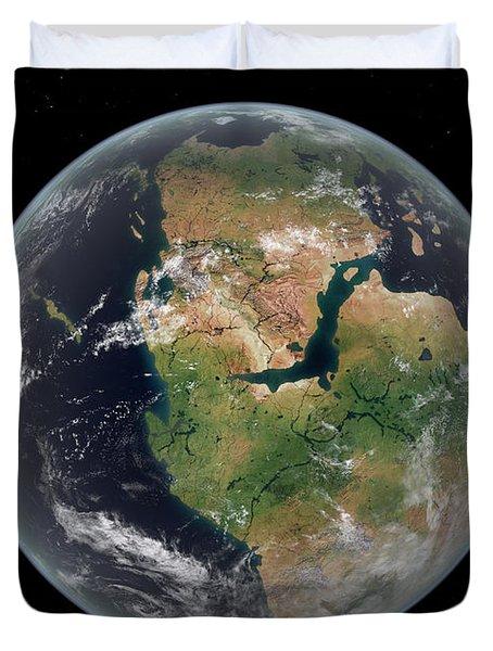 Western Hemisphere Of The Earth Duvet Cover