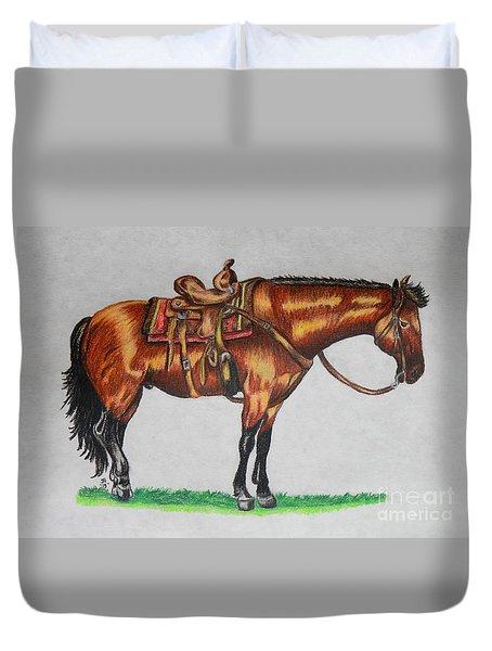 Western Horse Duvet Cover