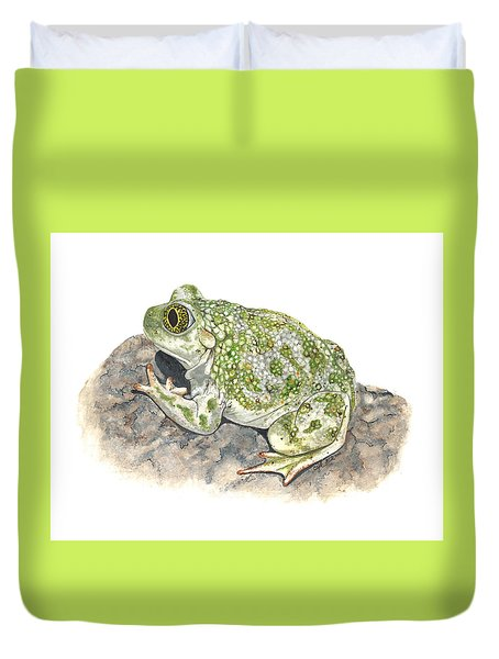 Western Spadefoot Duvet Cover by Cindy Hitchcock