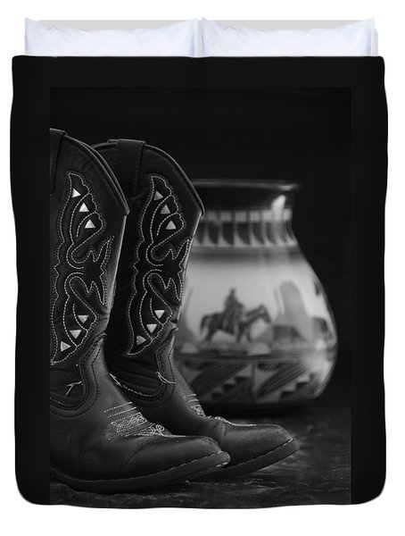 Duvet Cover featuring the photograph Western Still Life 2 by Kenny Francis