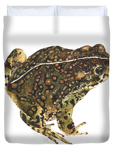 Western Toad Duvet Cover
