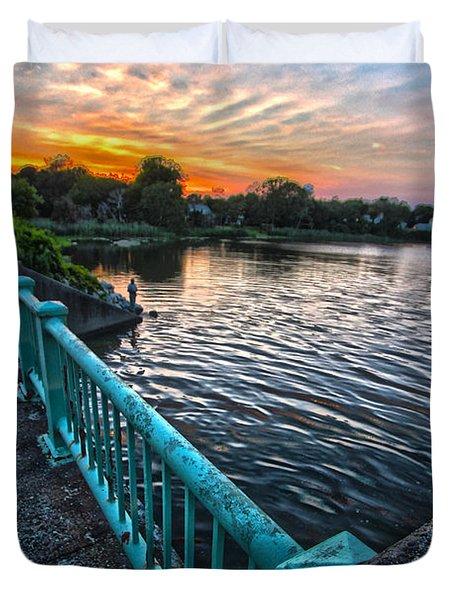 Westhampton-quogue Bridge Duvet Cover