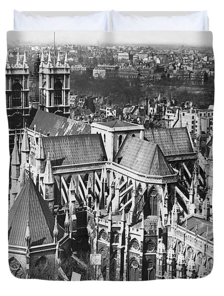 Westminster Abbey In London Duvet Cover by Underwood Archives