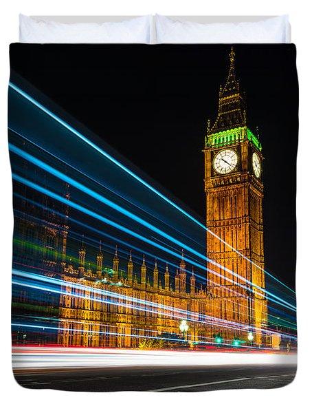 Westminster Light Trails Duvet Cover by Matt Malloy
