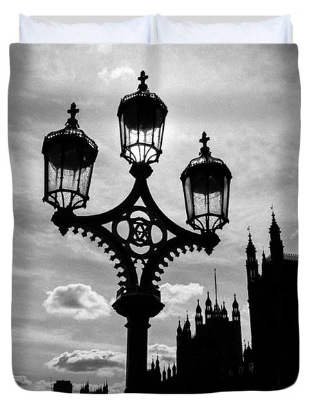 Duvet Cover featuring the photograph Westminster Silhouette by Matt Malloy